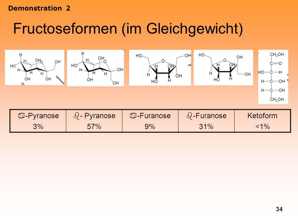 Fructoseformen (im Gleichgewicht)