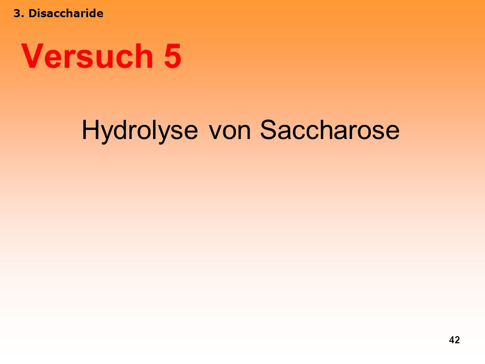 Hydrolyse von Saccharose