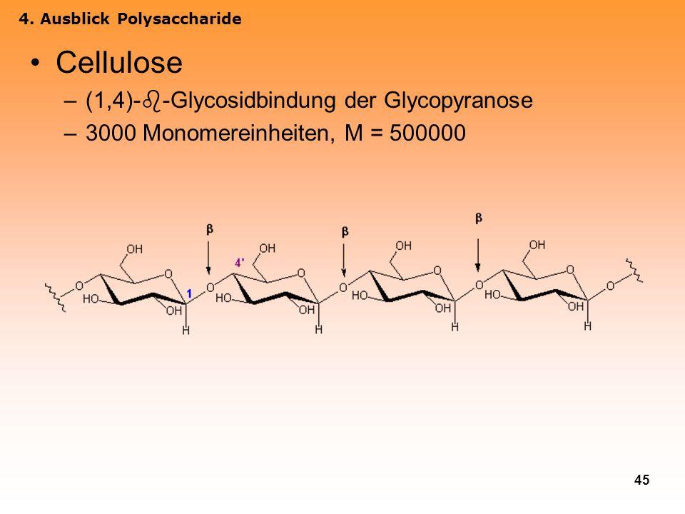 Cellulose (1,4)--Glycosidbindung der Glycopyranose