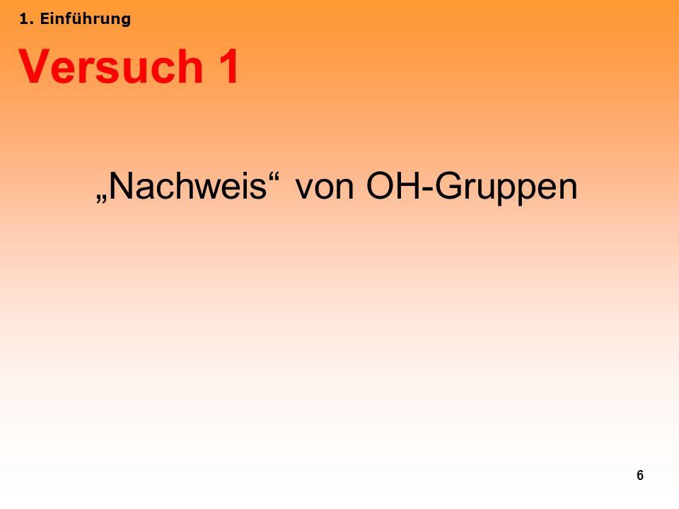 """""""Nachweis von OH-Gruppen"""