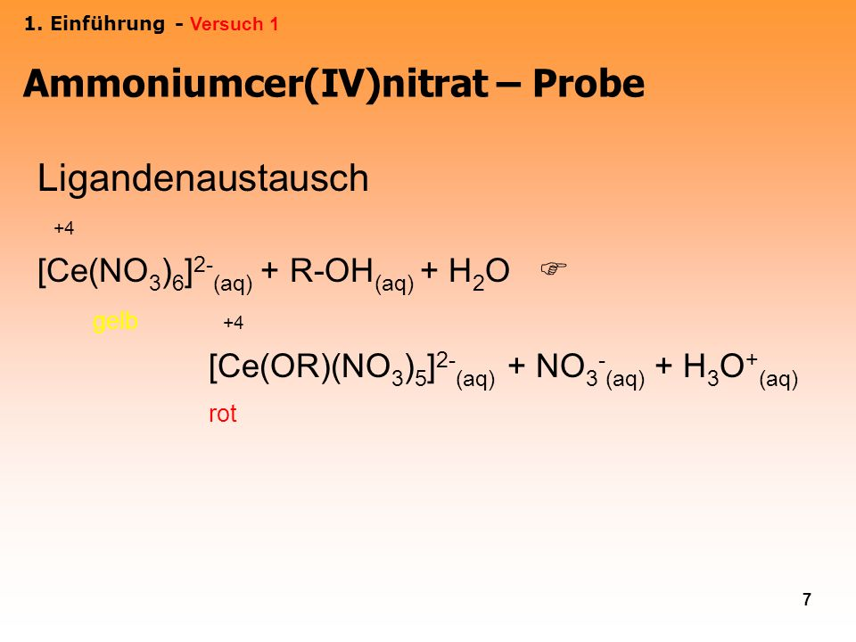 Ammoniumcer(IV)nitrat – Probe