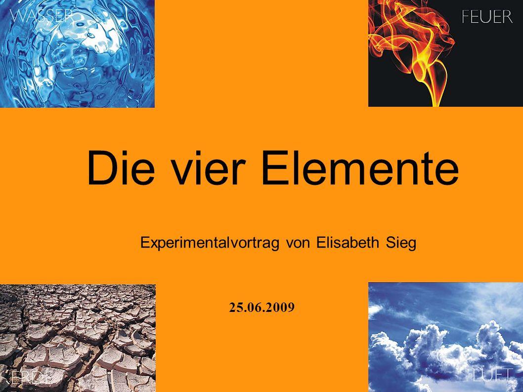 Experimentalvortrag von Elisabeth Sieg