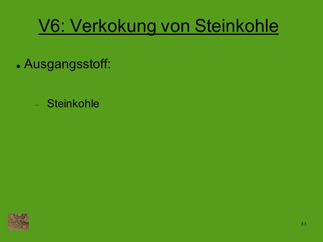 V6: Verkokung von Steinkohle
