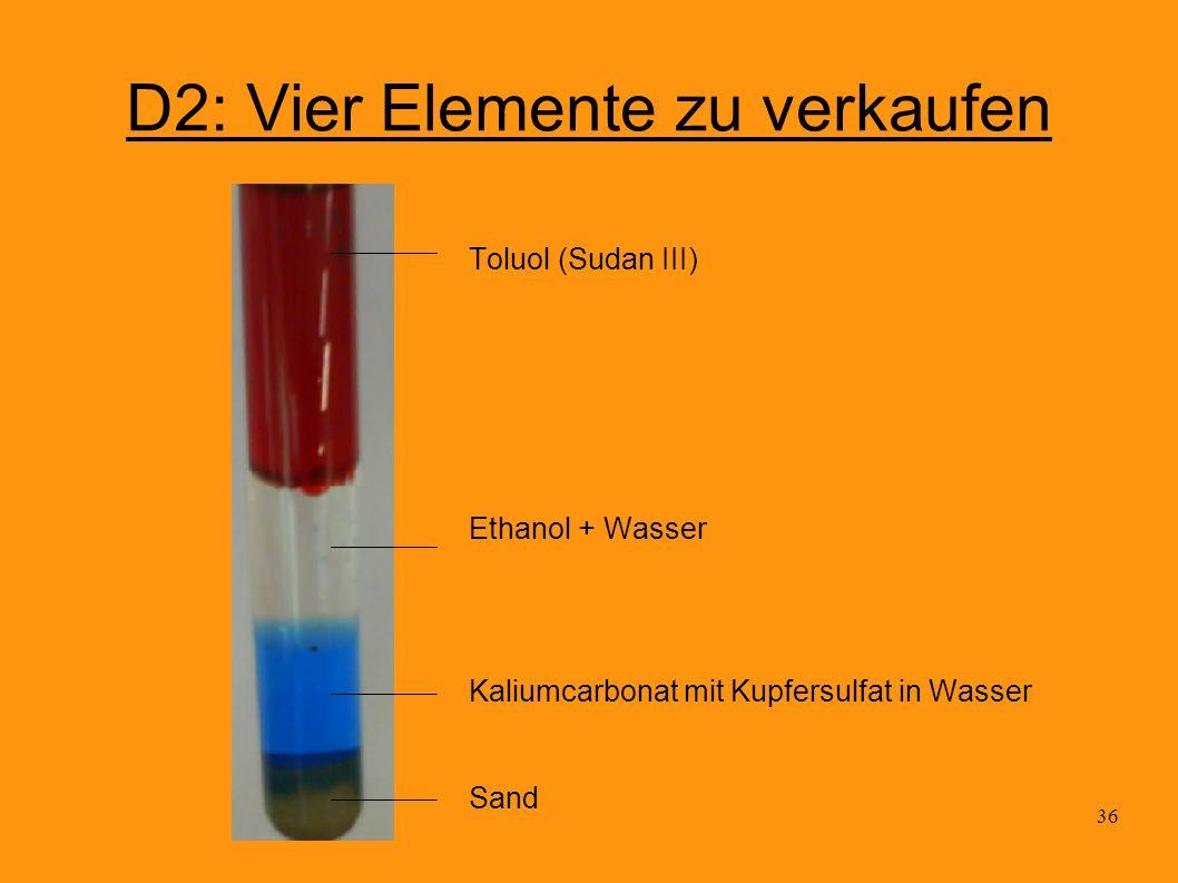 D2: Vier Elemente zu verkaufen