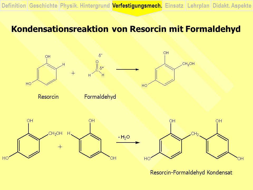 Kondensationsreaktion von Resorcin mit Formaldehyd
