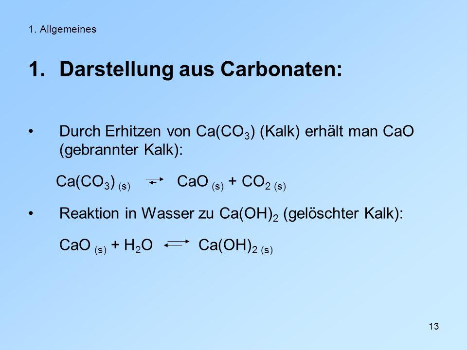 Darstellung aus Carbonaten: