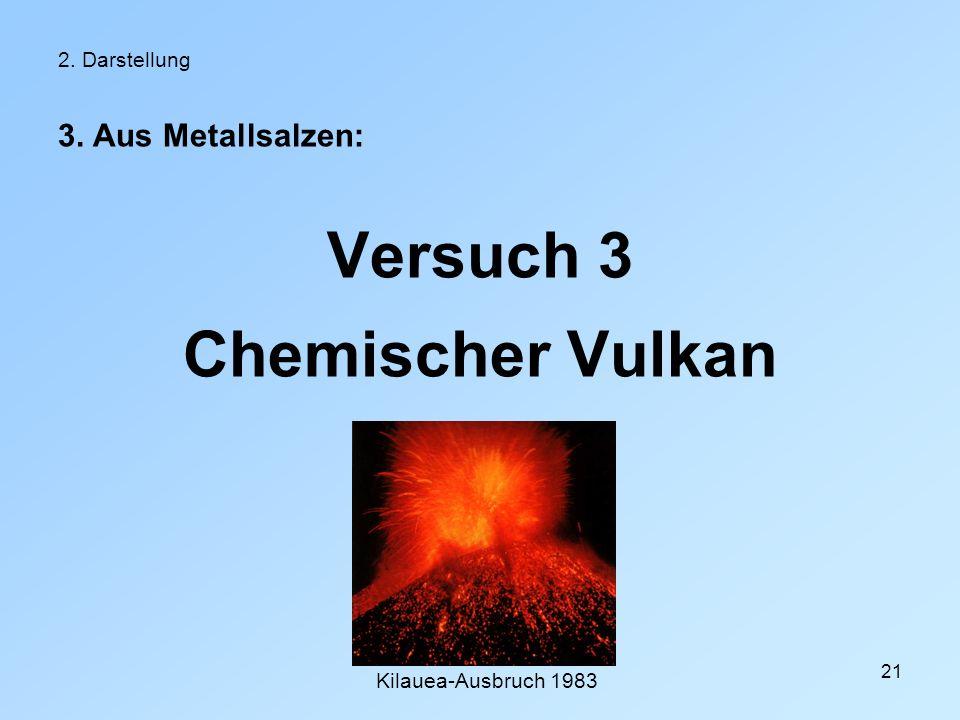 Versuch 3 Chemischer Vulkan
