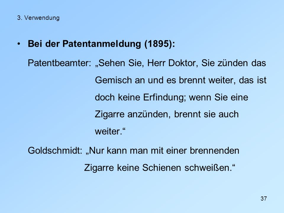Bei der Patentanmeldung (1895):