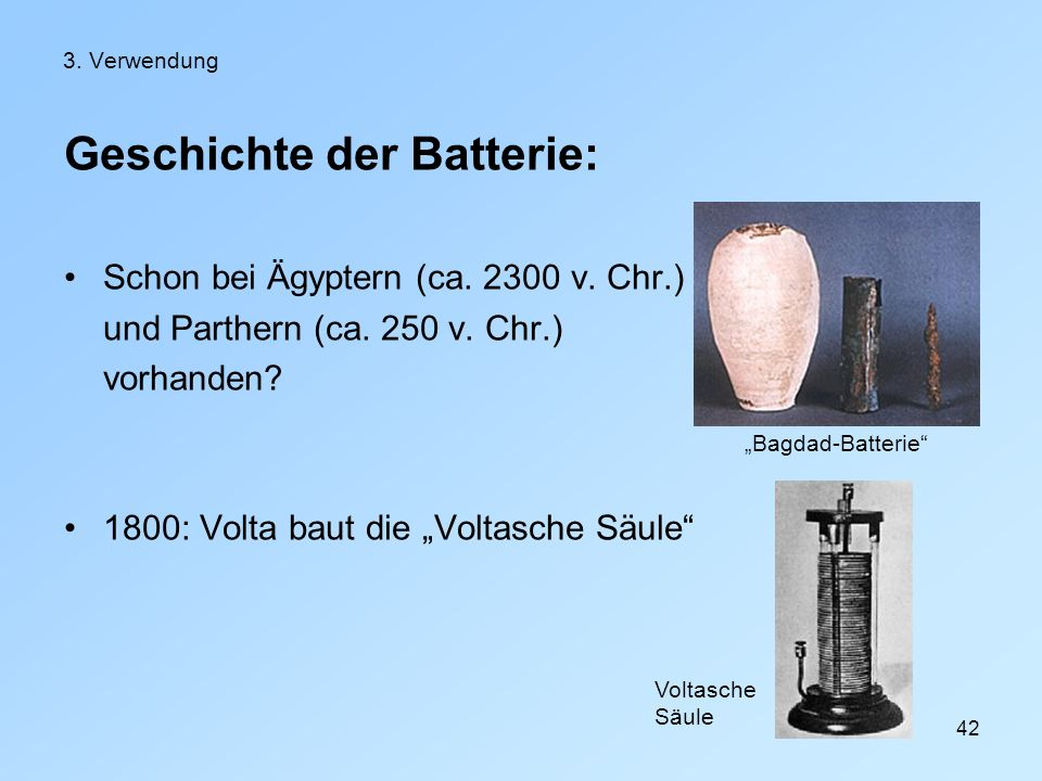Geschichte der Batterie: