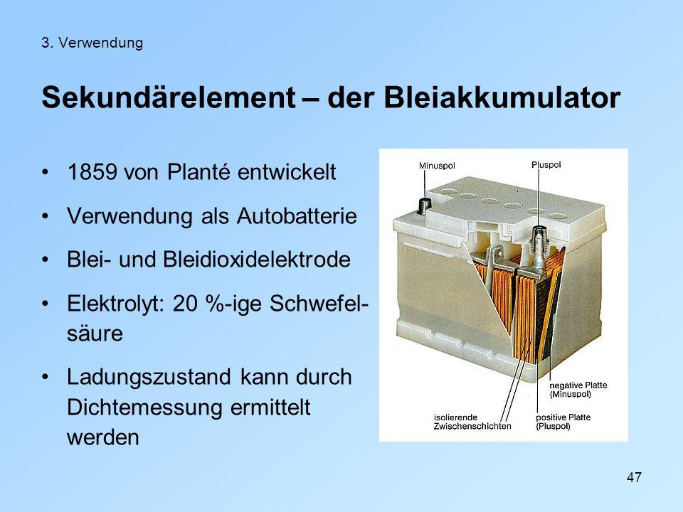 Sekundärelement – der Bleiakkumulator
