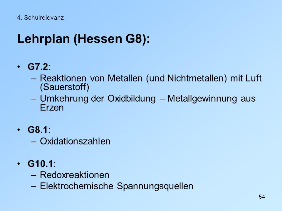 Lehrplan (Hessen G8): G7.2: