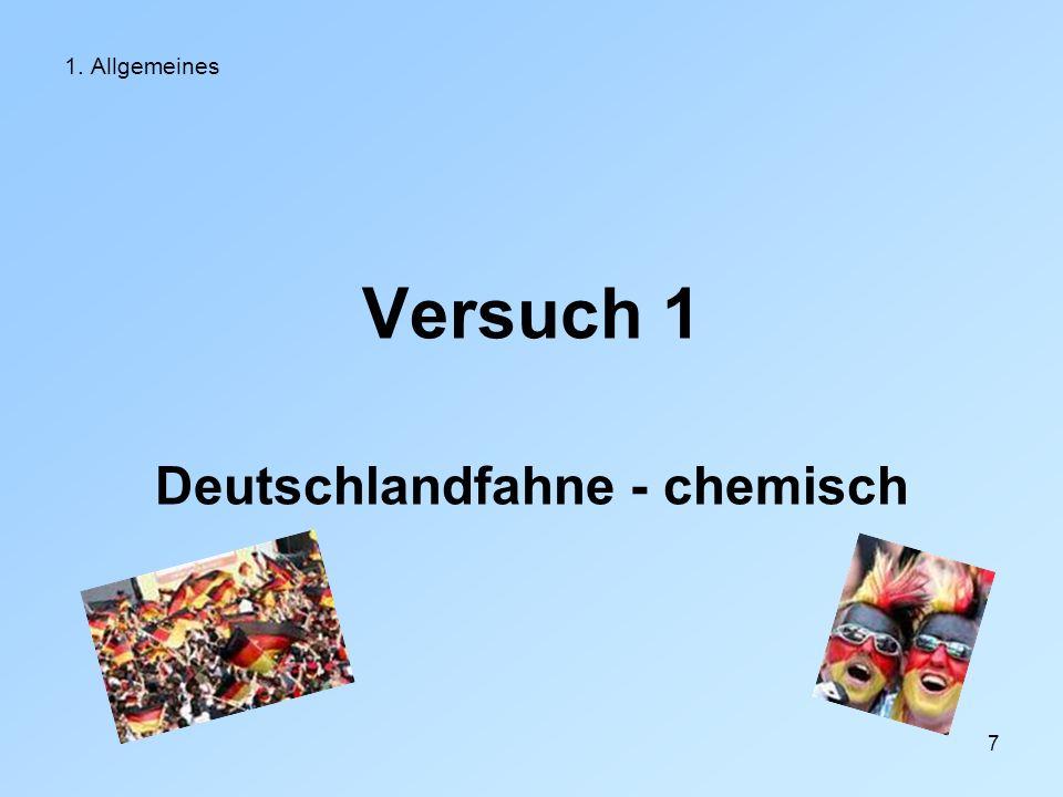 Deutschlandfahne - chemisch