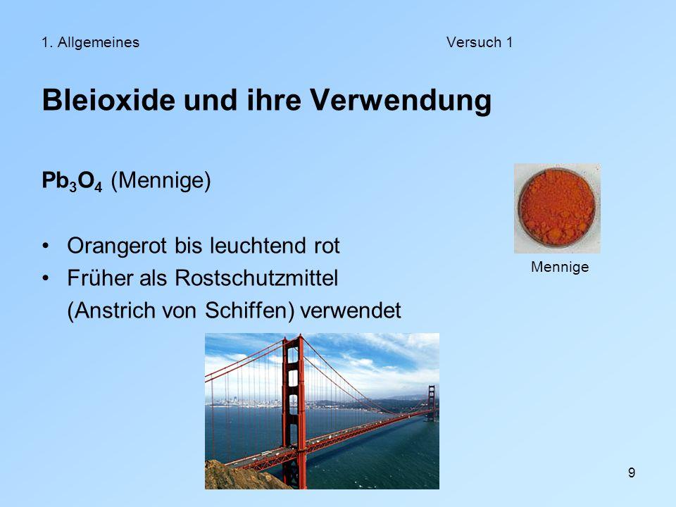 Bleioxide und ihre Verwendung