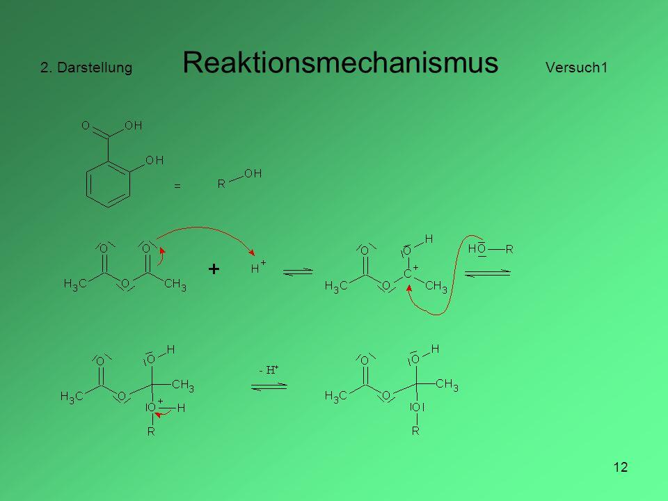 2. Darstellung Reaktionsmechanismus Versuch1