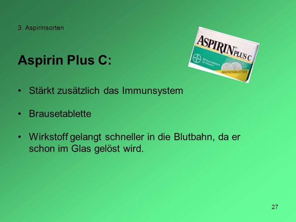 Aspirin Plus C: Stärkt zusätzlich das Immunsystem Brausetablette