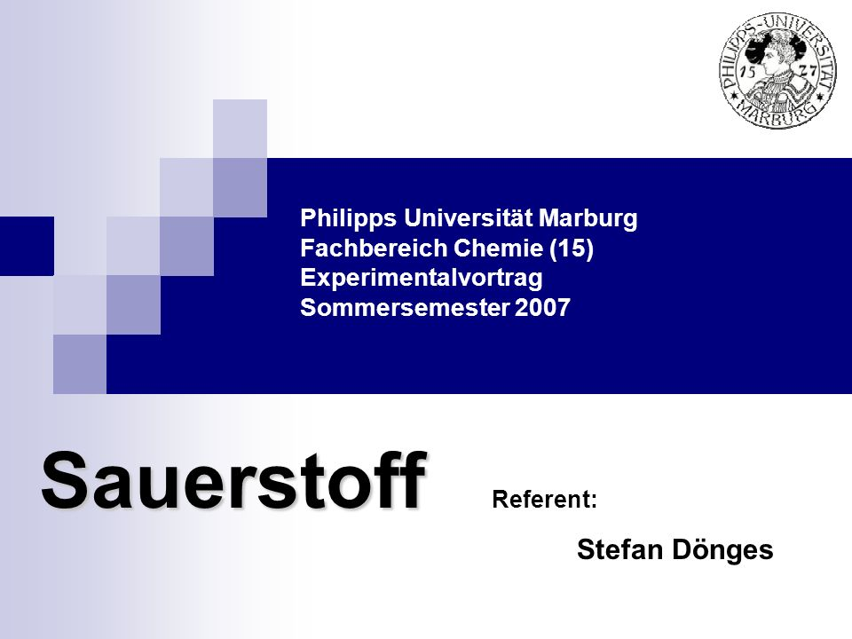 Sauerstoff Stefan Dönges