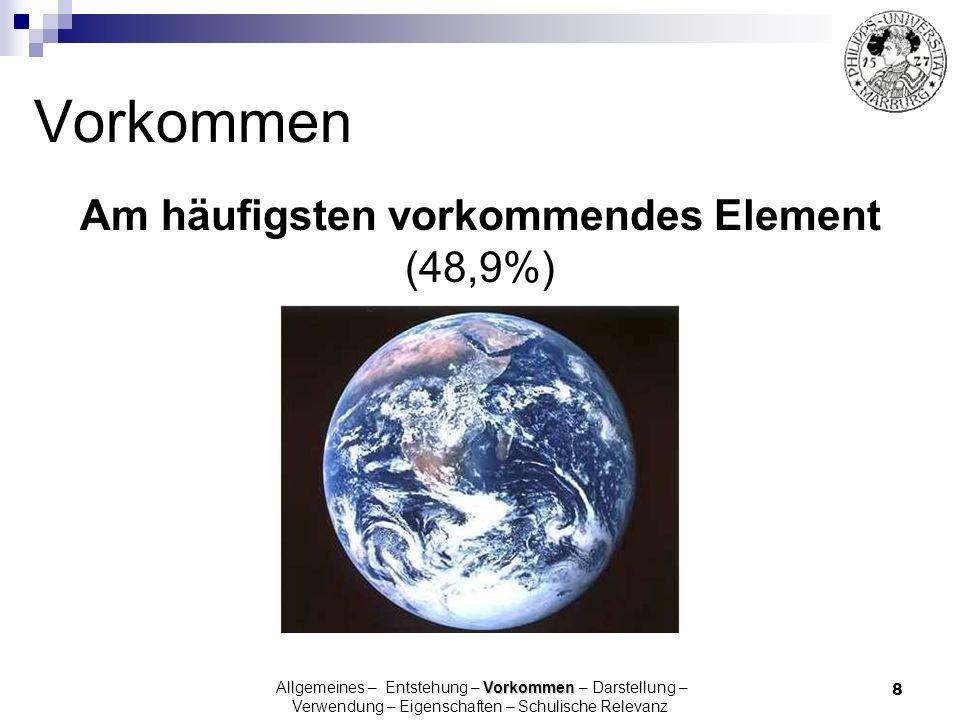 Am häufigsten vorkommendes Element (48,9%)