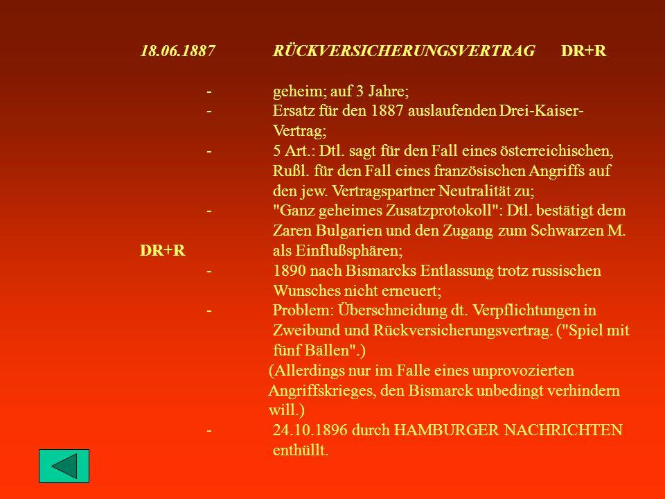 18.06.1887 RÜCKVERSICHERUNGSVERTRAG DR+R
