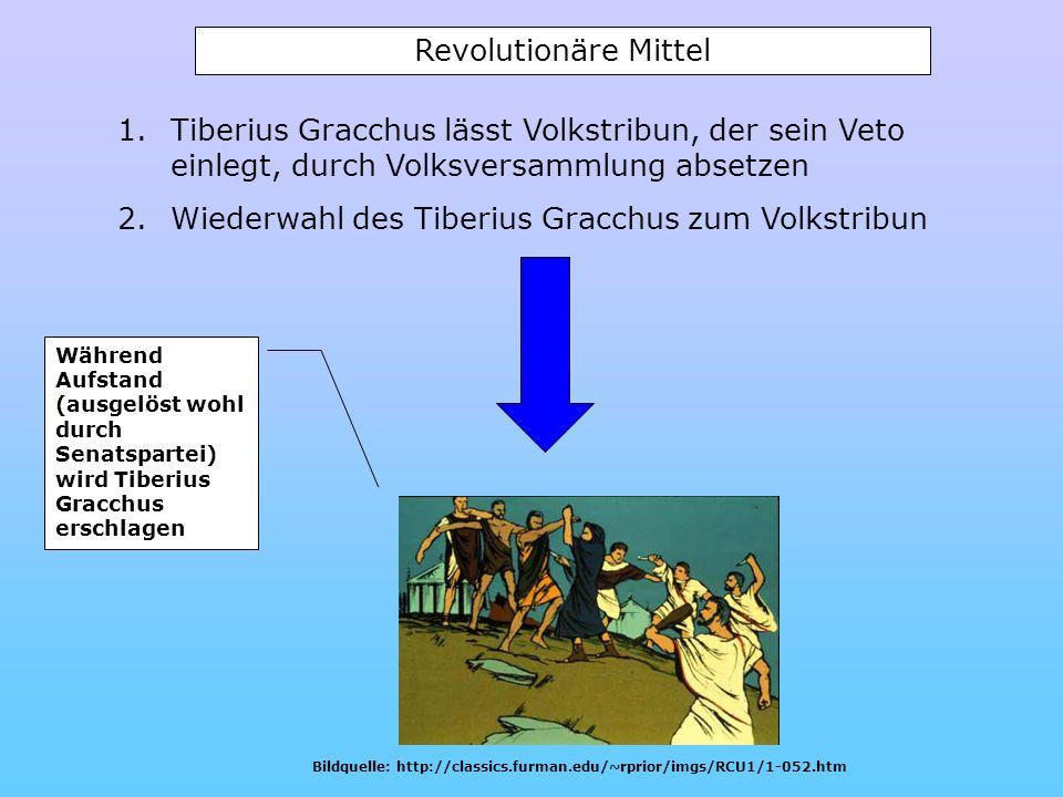 Wiederwahl des Tiberius Gracchus zum Volkstribun