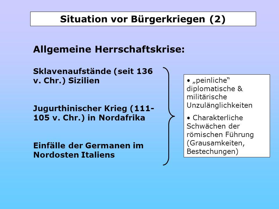 Situation vor Bürgerkriegen (2)