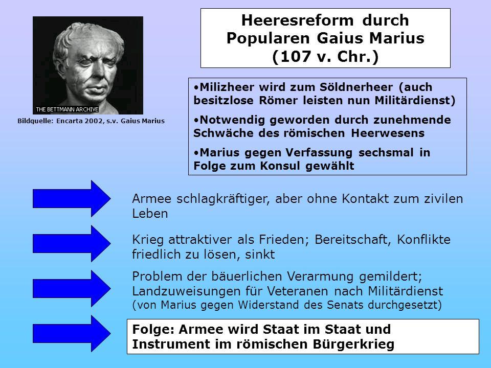 Heeresreform durch Popularen Gaius Marius (107 v. Chr.)