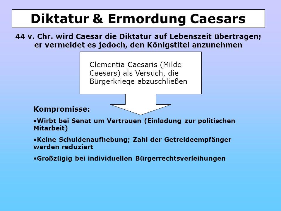 Diktatur & Ermordung Caesars