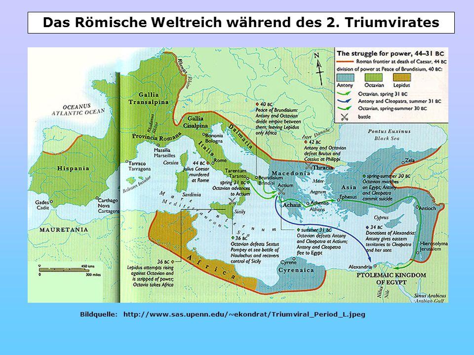Das Römische Weltreich während des 2. Triumvirates