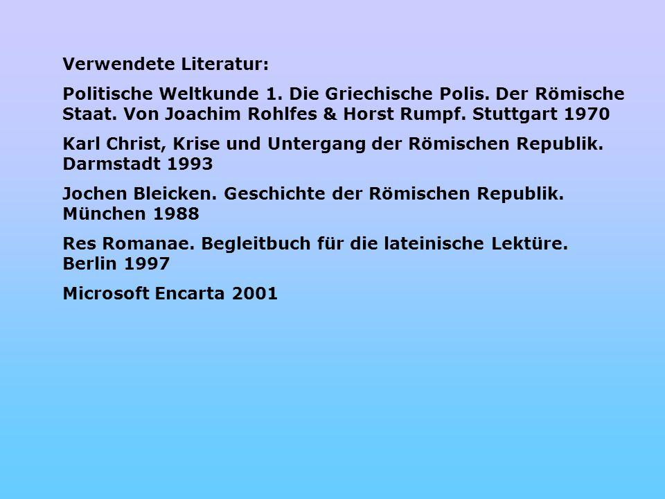 Verwendete Literatur: