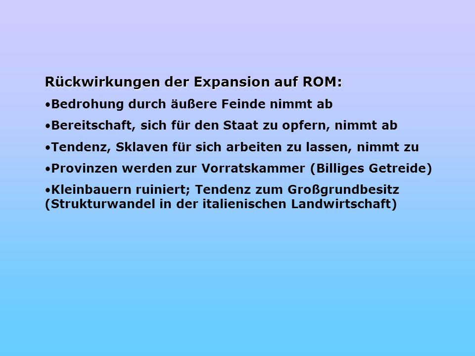 Rückwirkungen der Expansion auf ROM: