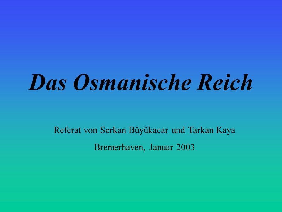 Referat von Serkan Büyükacar und Tarkan Kaya