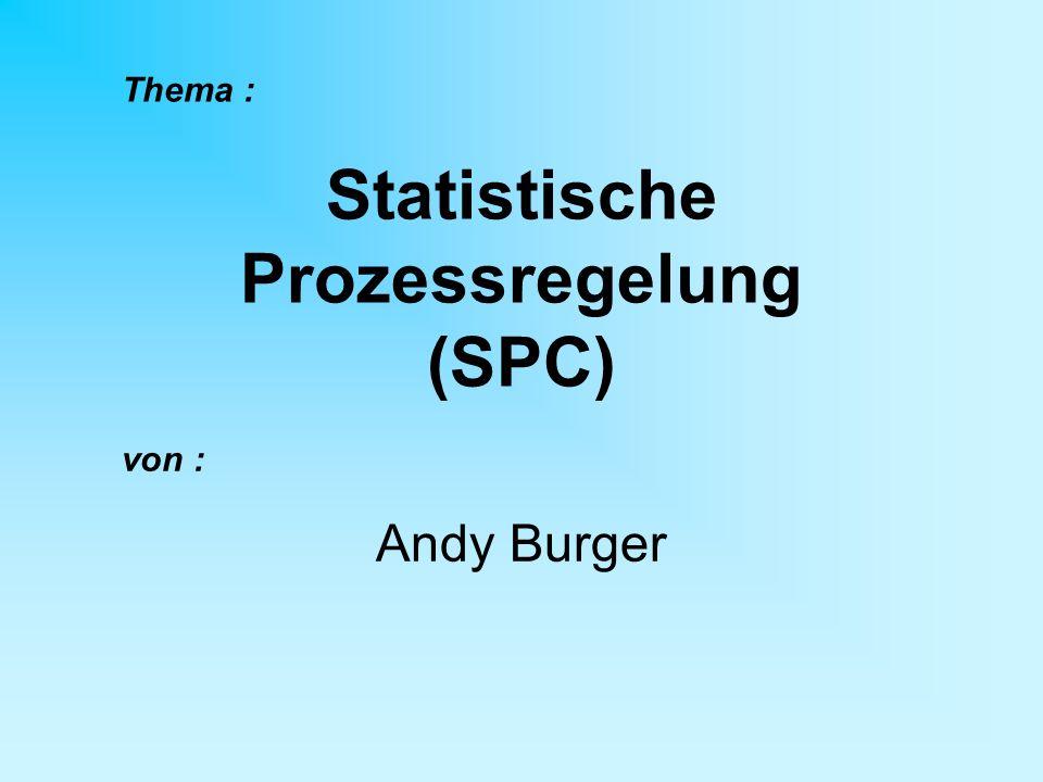 Statistische Prozessregelung (SPC)