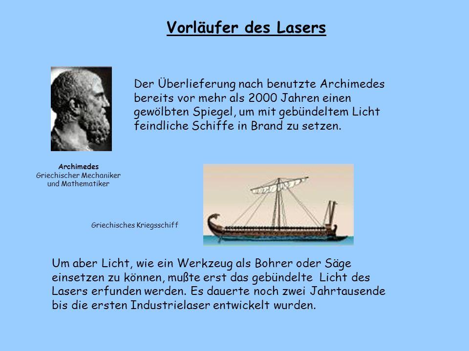 Vorläufer des Lasers