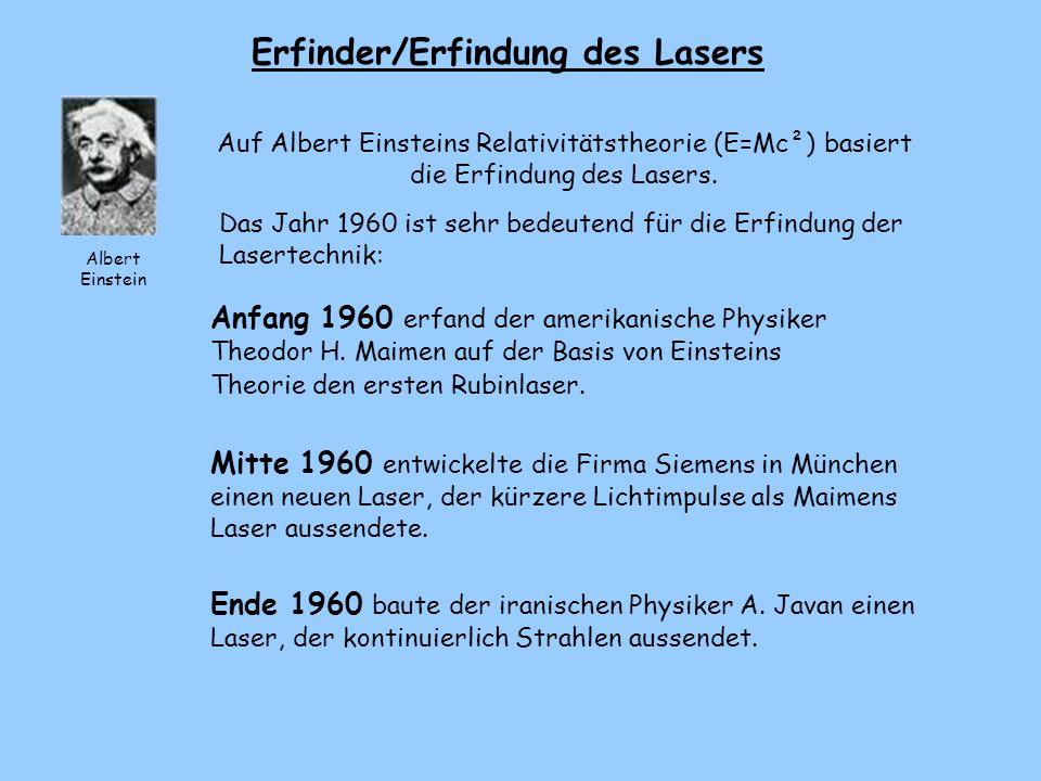 Erfinder/Erfindung des Lasers