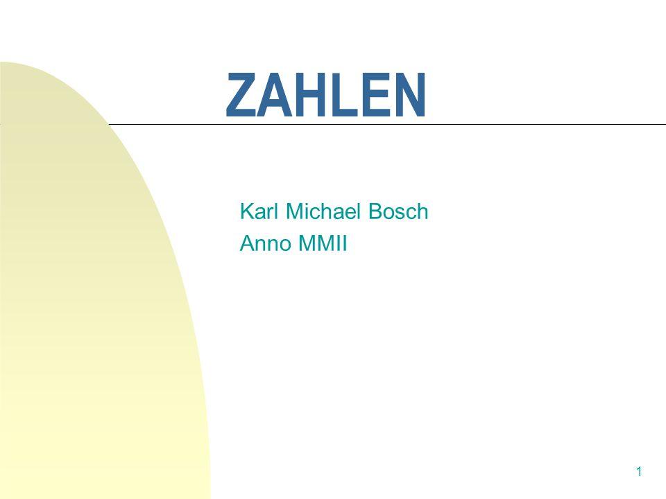 Karl Michael Bosch Anno MMII