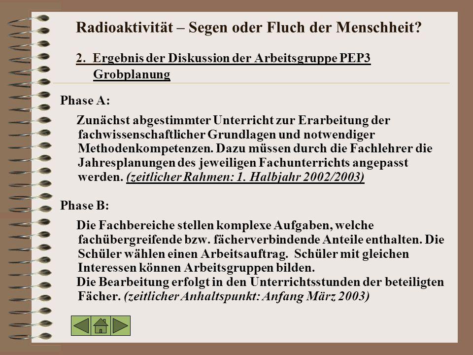 Radioaktivität – Segen oder Fluch der Menschheit. 2