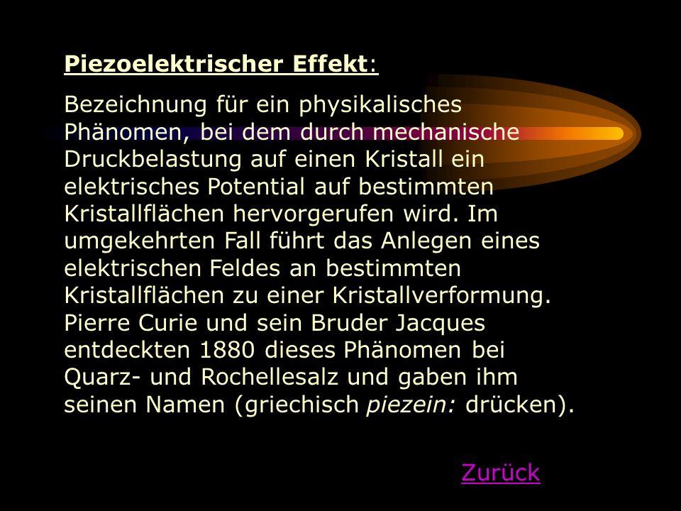 Piezoelektrischer Effekt: