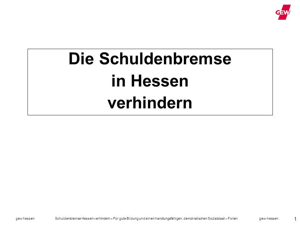 Die Schuldenbremse in Hessen verhindern