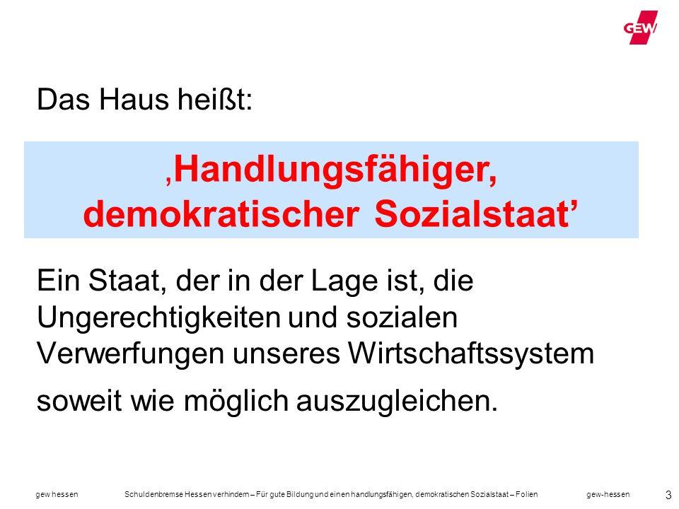 'Handlungsfähiger, demokratischer Sozialstaat'