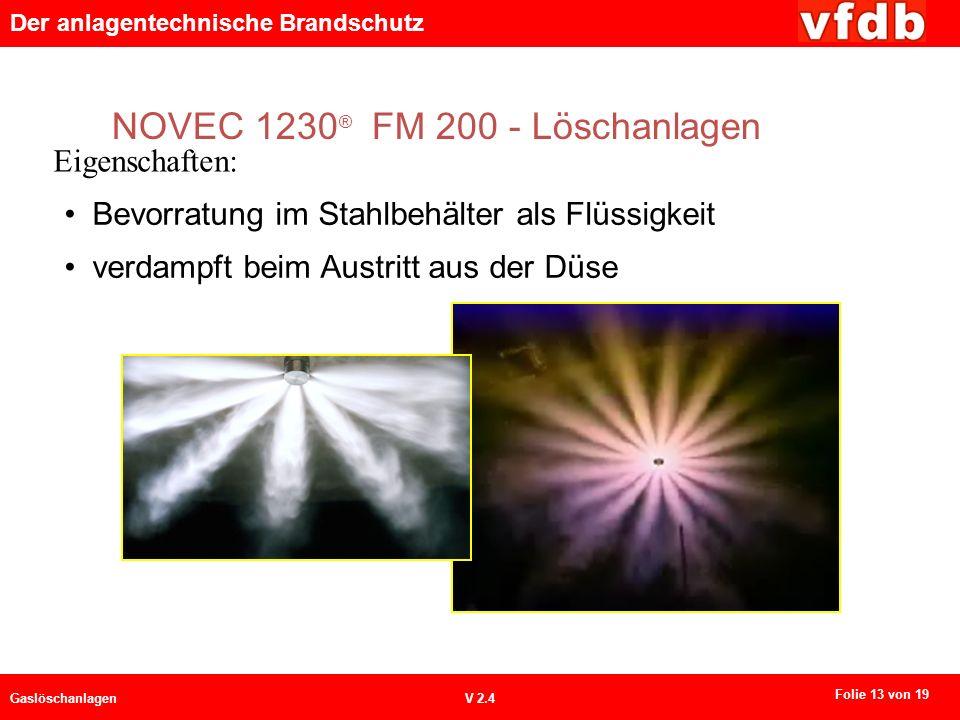 NOVEC 1230® FM 200 - Löschanlagen