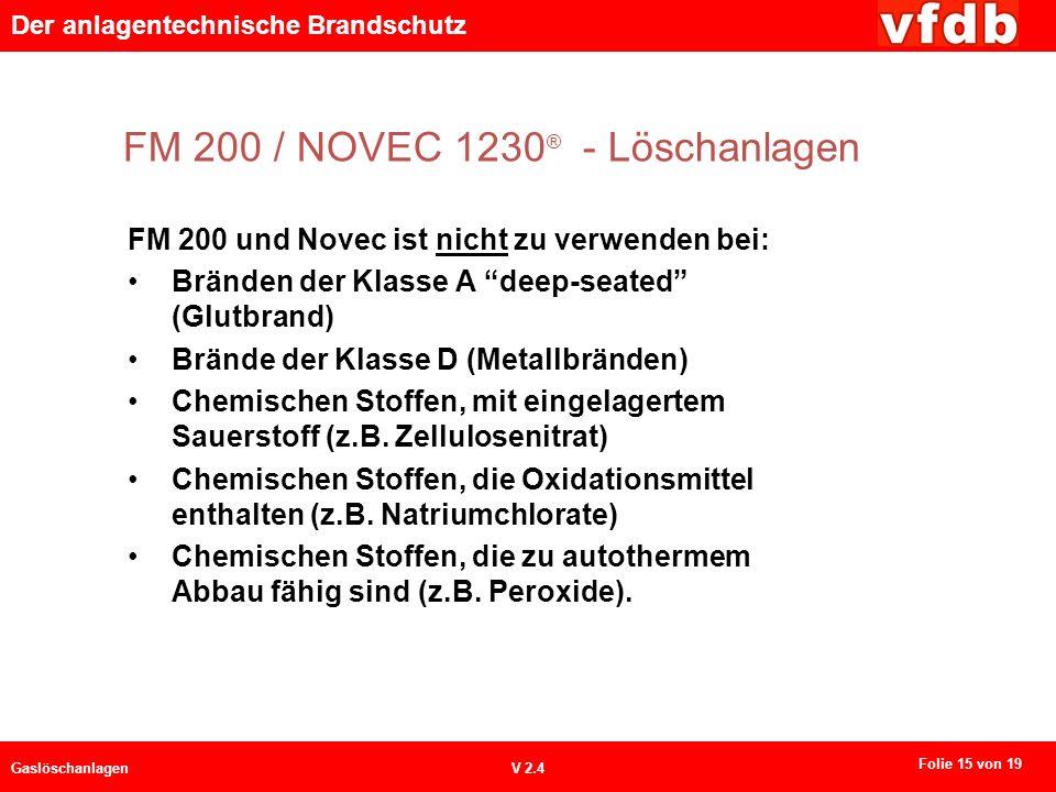 FM 200 / NOVEC 1230® - Löschanlagen