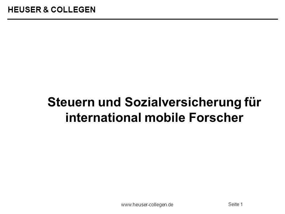 Steuern und Sozialversicherung für international mobile Forscher
