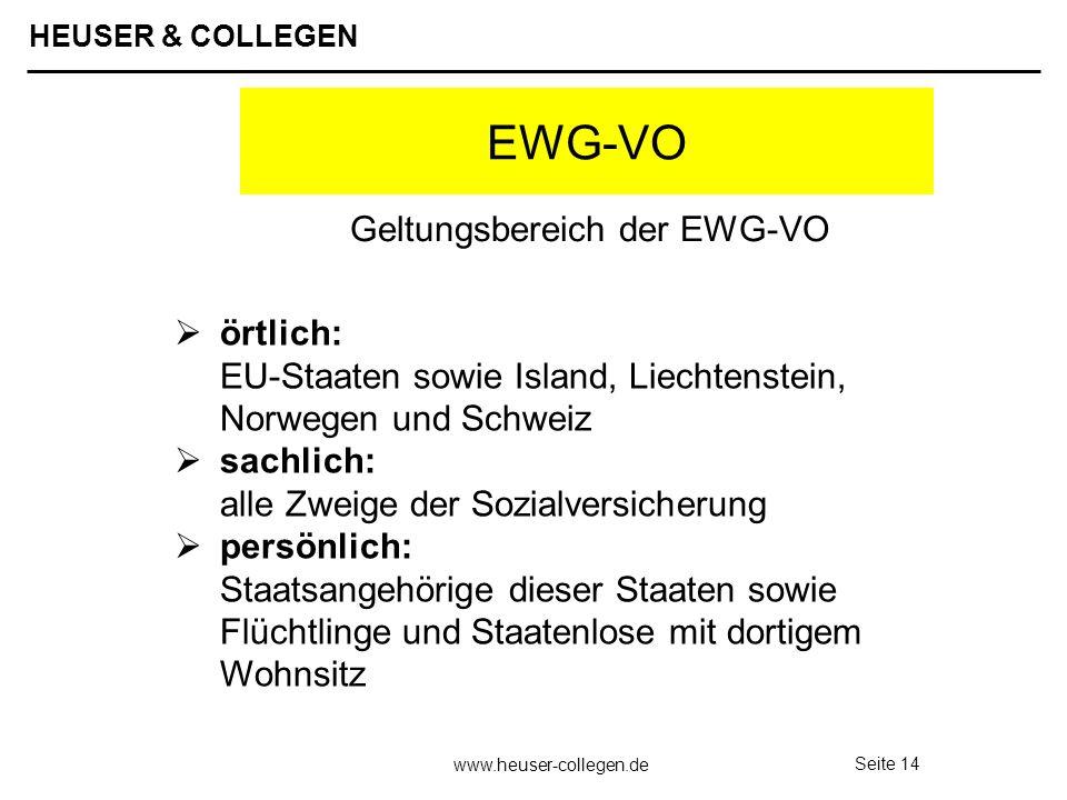 Geltungsbereich der EWG-VO