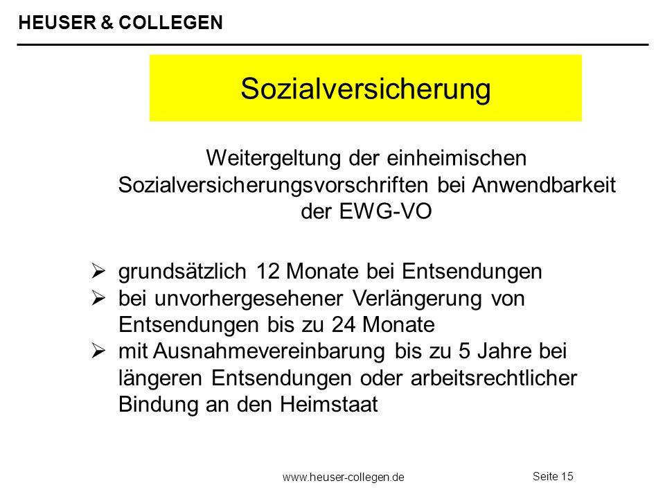 SozialversicherungWeitergeltung der einheimischen Sozialversicherungsvorschriften bei Anwendbarkeit der EWG-VO.