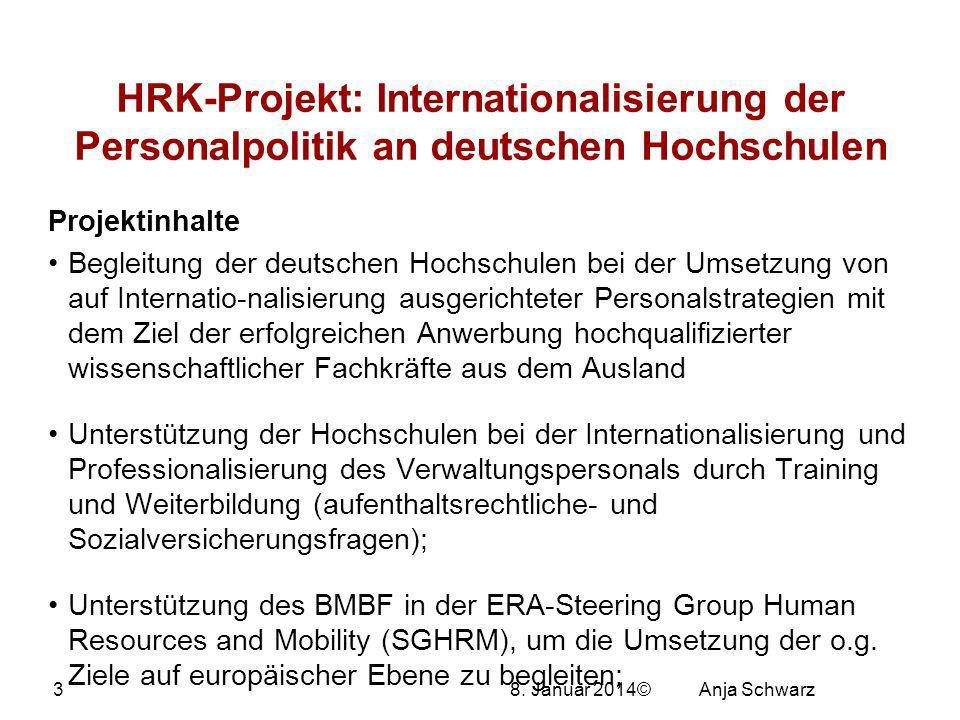 27.03.2017 HRK-Projekt: Internationalisierung der Personalpolitik an deutschen Hochschulen. Projektinhalte.