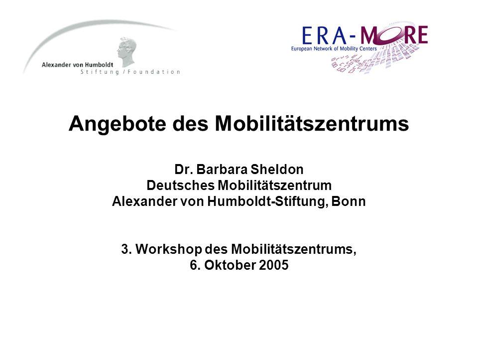 Angebote des Mobilitätszentrums Dr