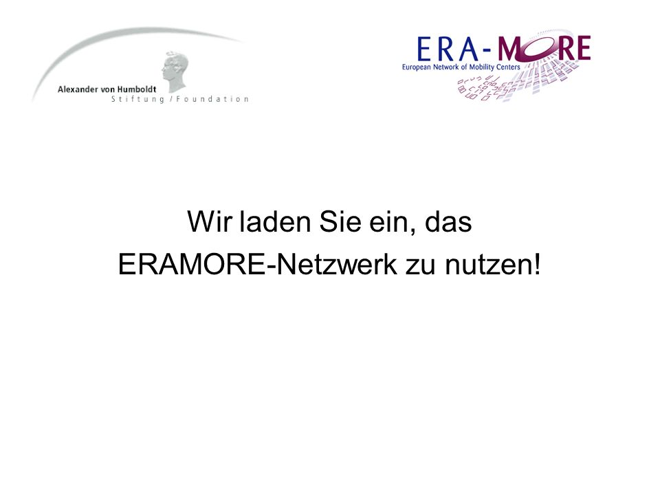 ERAMORE-Netzwerk zu nutzen!