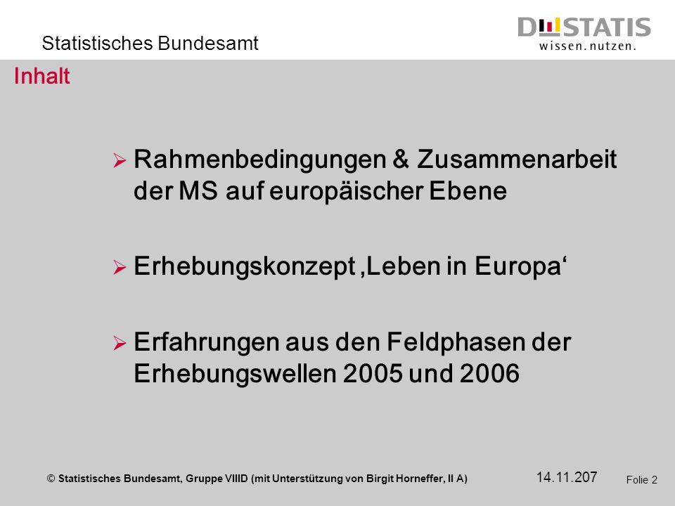 Rahmenbedingungen & Zusammenarbeit der MS auf europäischer Ebene