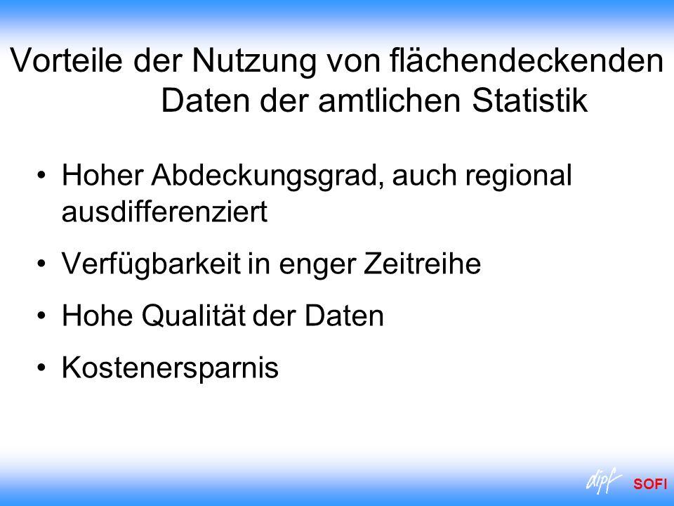 Vorteile der Nutzung von flächendeckenden Daten der amtlichen Statistik