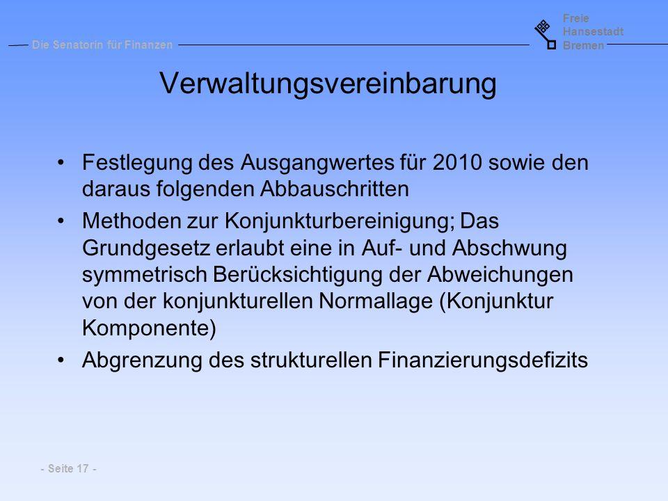 Verwaltungsvereinbarung