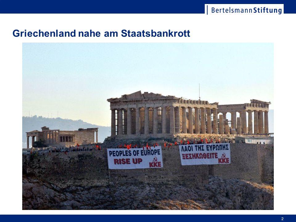 Griechenland nahe am Staatsbankrott